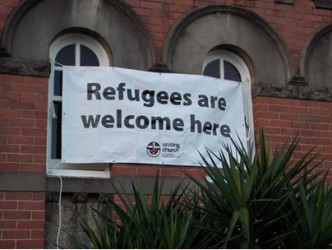 Refugees are welcome here.